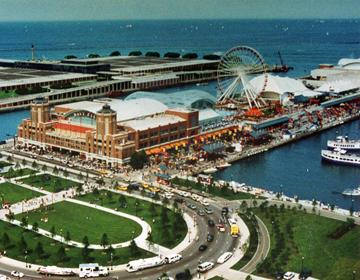 Navy Pier, Aerial View by Bruce Heinrich