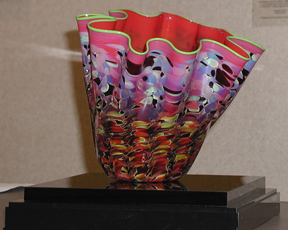 """Dale Chihuly's piece entitled """"Ruby Macchia"""""""