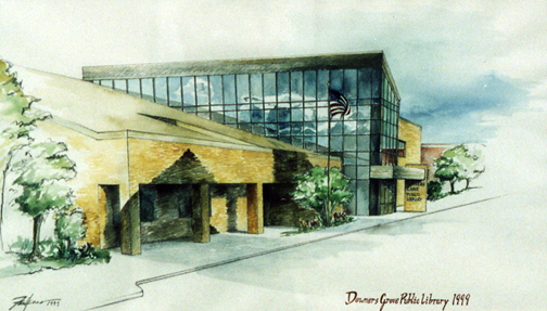Robin Faulkner's piece of the Downers Grove Public Library 1999