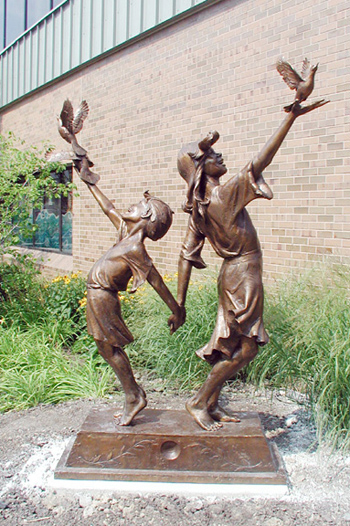 "Gary Price's piece entitled ""Children of Peace"""
