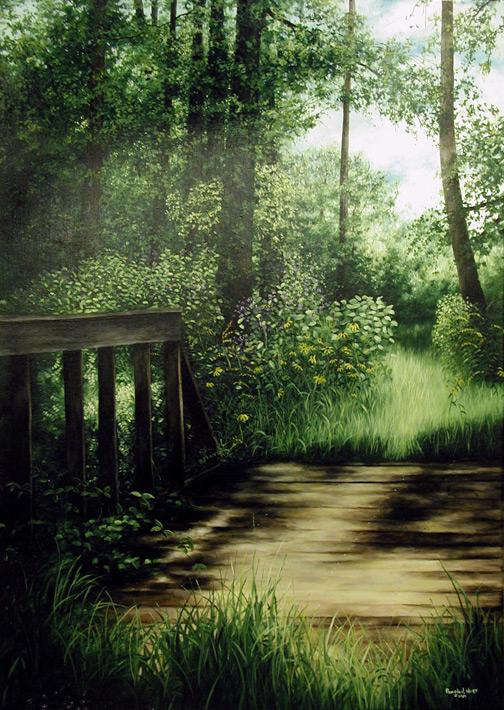 "Pamela J. Hart's piece entitled ""F.GI's Bridge"""